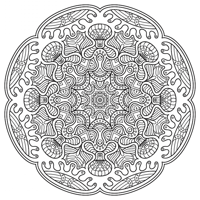 Mandala art therapy