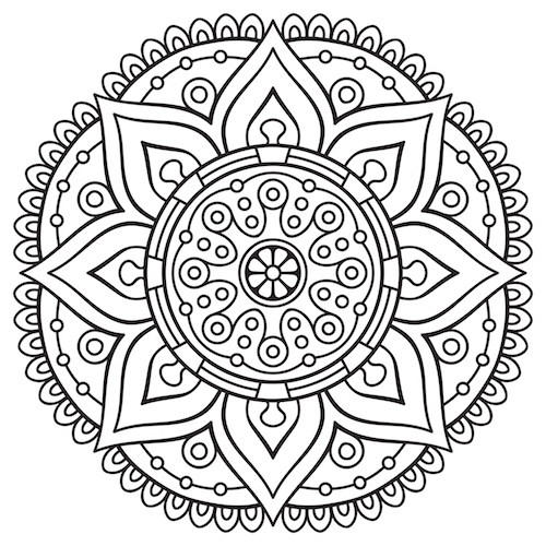 coloring pages mandala - Nevse.kapook.co