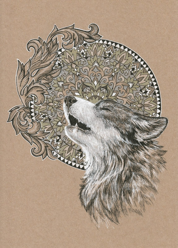 Wolf Mandala Mandalas For The Soul